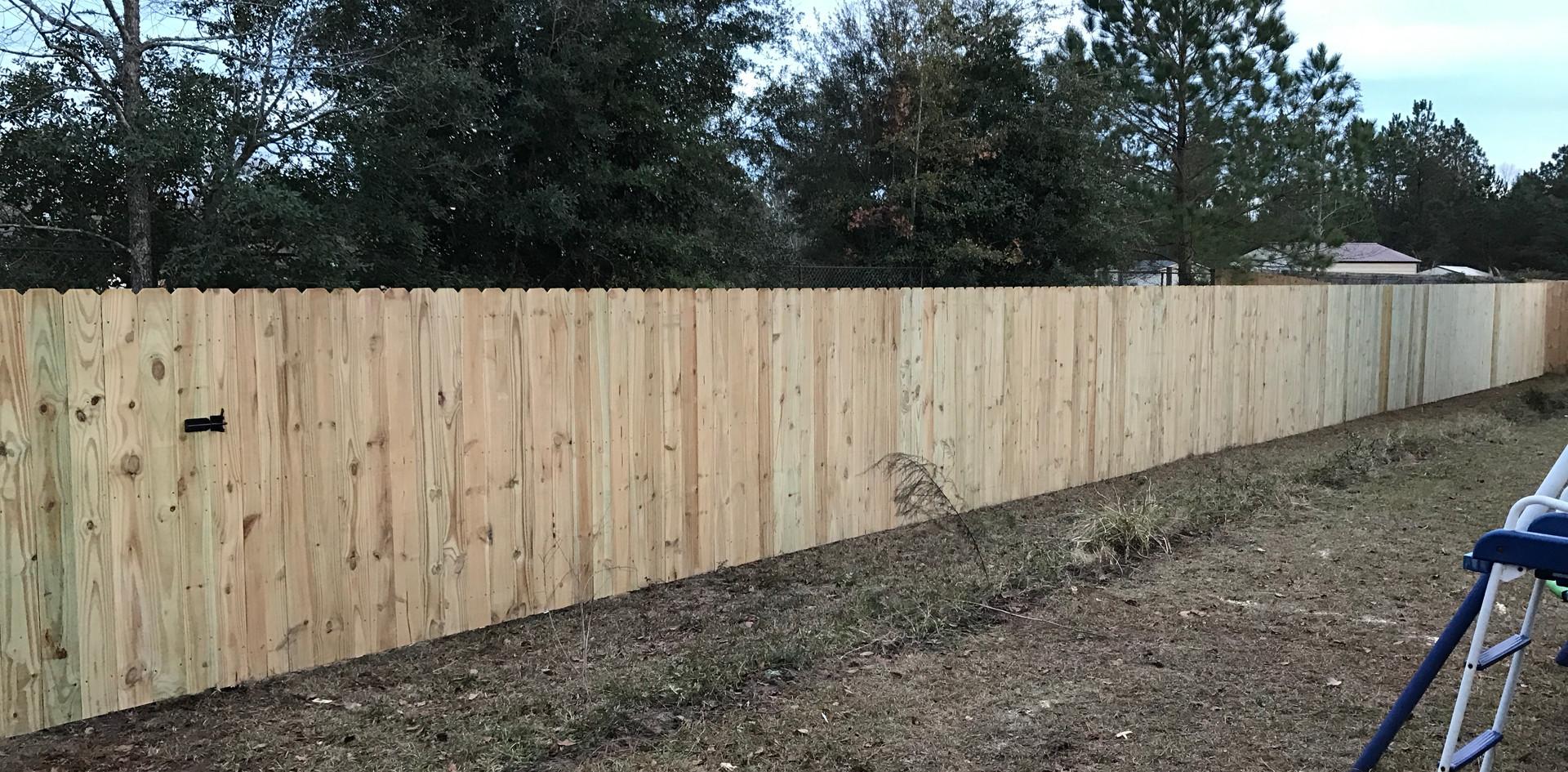 Stockade Wood Fence
