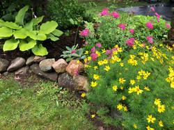Summer color garden