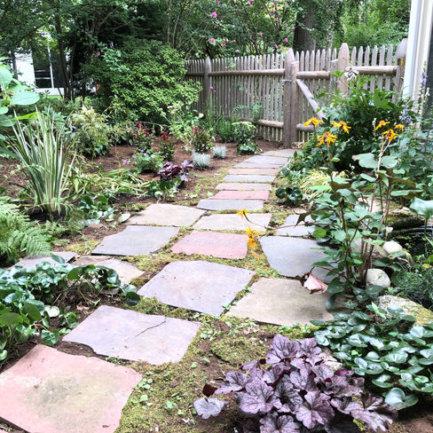 Garden with Flagstone path