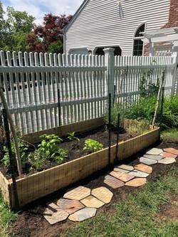 easy herb raised garden bed
