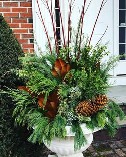 winter green planter