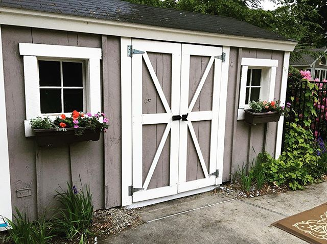 flower boxes for your Shed