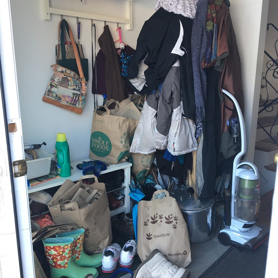 Too much stuff in entryway