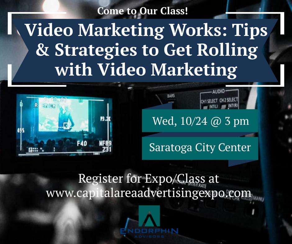video marketing class by Endorphin Advisors