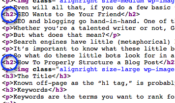 h2 Denotiation in HTML