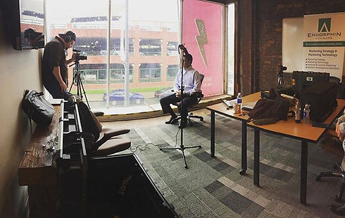 Behind the scenes shooting our new compa