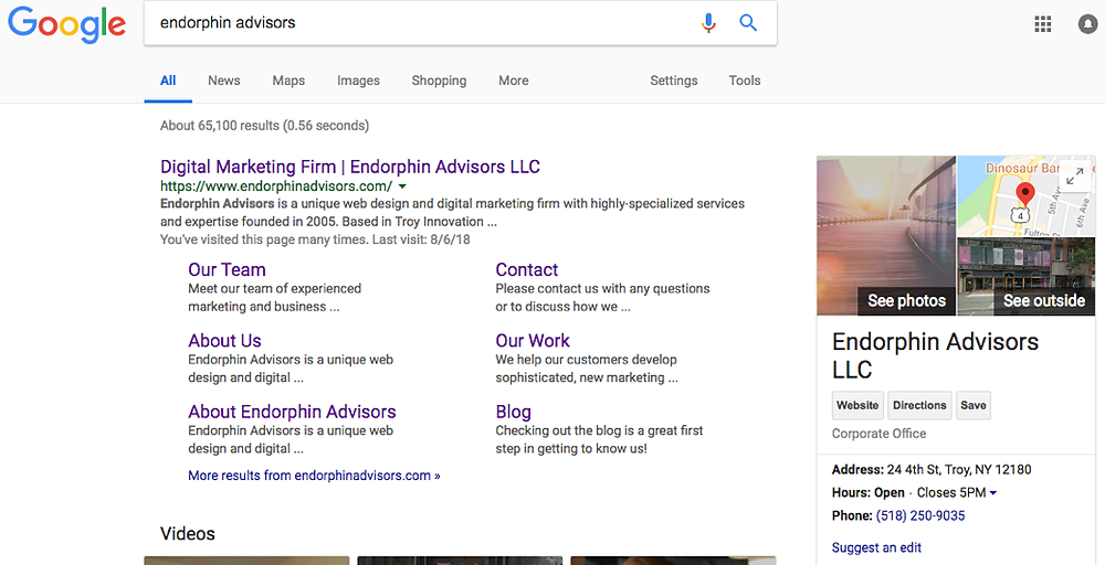 Google My Business, Endorphin Advisors
