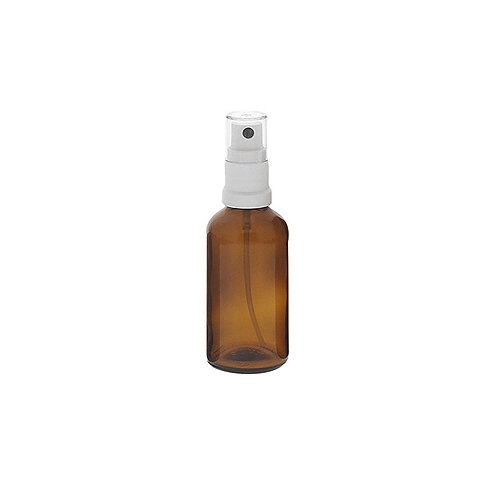 50ml  Spray bottle  in brown glas with pump