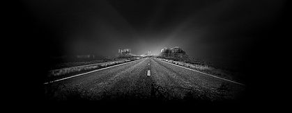dark road at night depicting anxiety and overwhelm that can improve with online counseling at mckenziecounseling.org