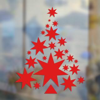 Ёлка из звезд красная
