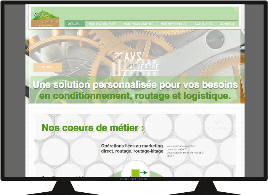 Vue écran-site vitrine AVS Auvergne-accueil