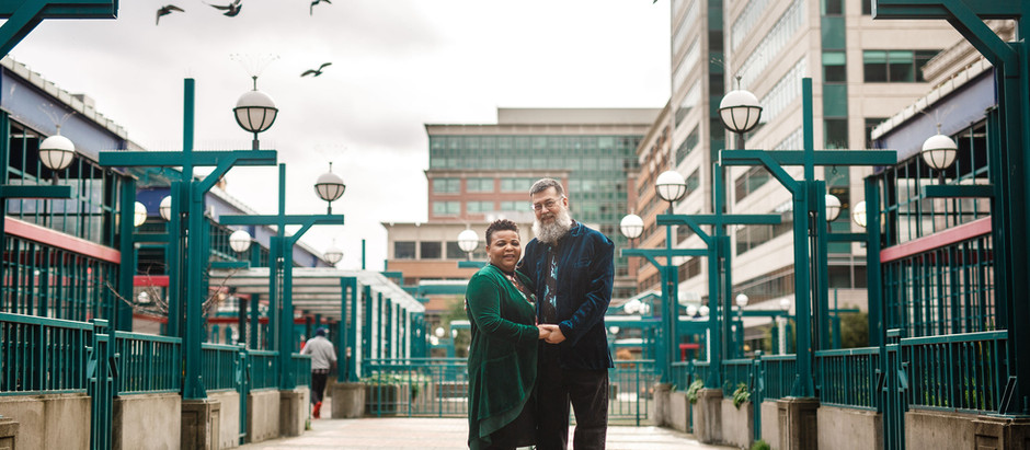 Aesthetic Urban Love: Emerald Edition | Engagement Session at Union Station, Seattle, WA