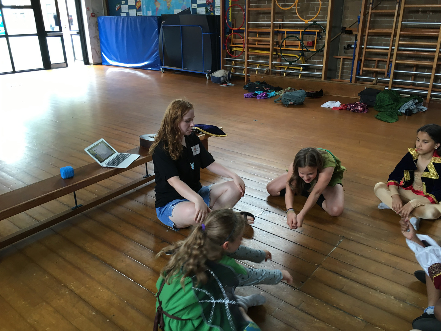 Peter Pan rehearsals