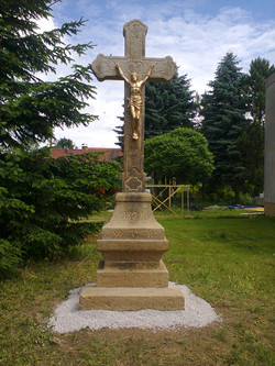 Kříž v obci Malčín