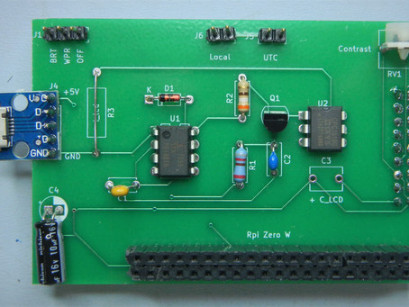 Big Font Clock Update:  Dimmer-Interface PCB and Setup Instructions.