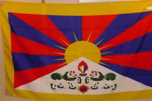 Drapeau tibétain tissu 1 x 2 m