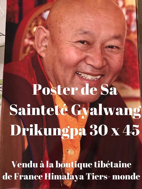 Poster de Sa Sainteté Gyalwang Drikungpa