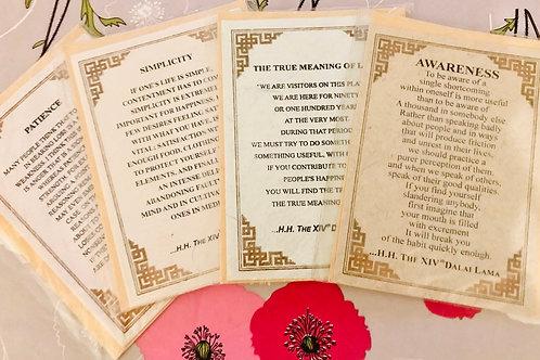 4 Cartes de vœux citations Dalaï-Lama