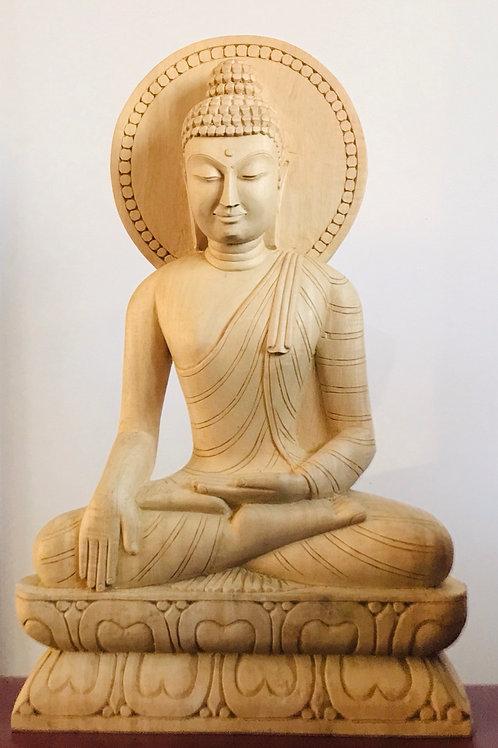 Statue en bois de Bodhgaya