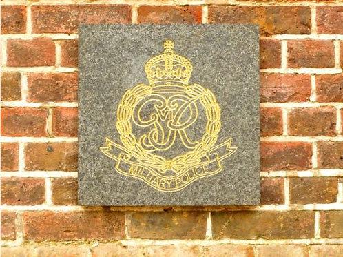 Engraved unit badge plaque