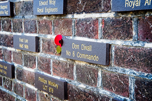 Engraved brick for individual names