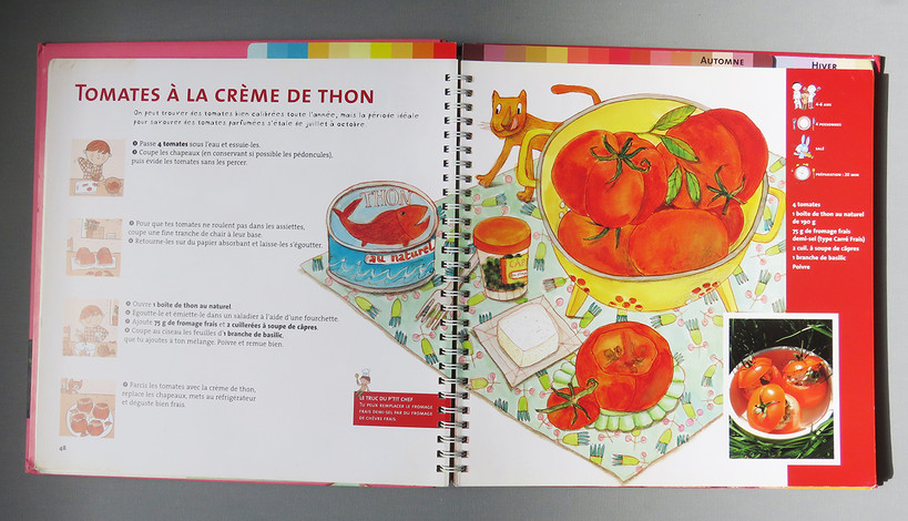Tomates à la crème de thon
