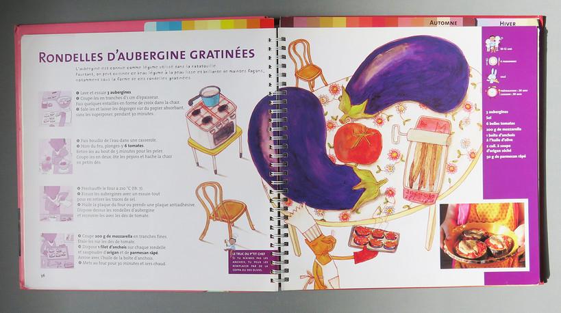Rondelles d'aubergine gratinées