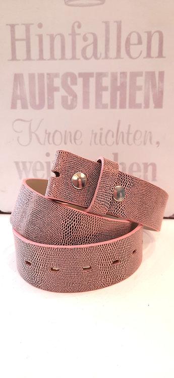 Umjubelt Gürtel Rosé Metallic - ohne Schnalle