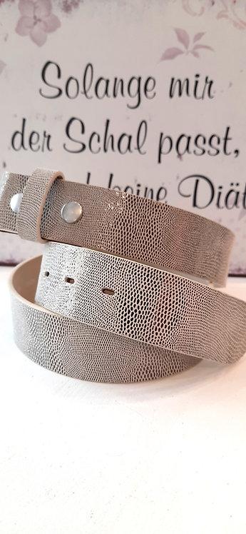 Umjubelt Gürtel Cremé Metallic - ohne Schnalle