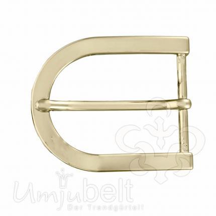 Umjubelt Schnalle Halbschließe Oval Gold