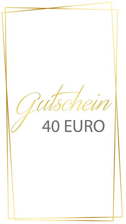 40 Euro Gutschein - selber ausdrucken