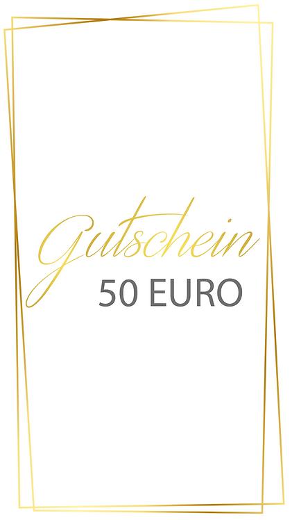 50 Euro Gutschein - selber ausdrucken