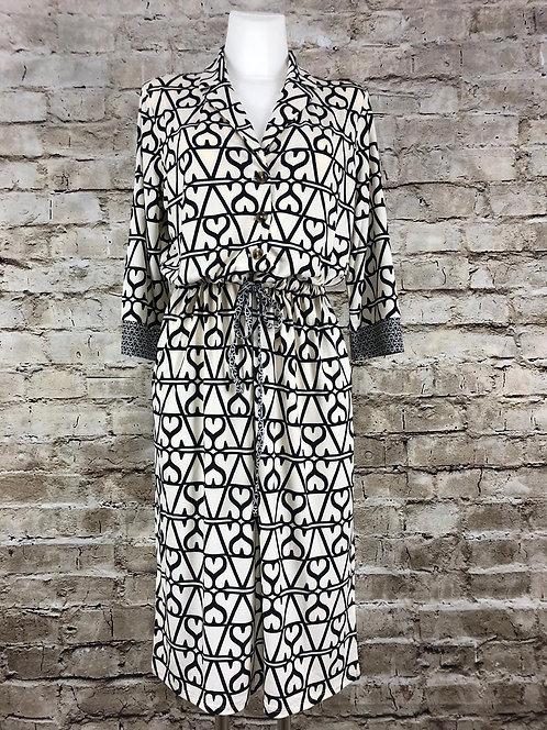 Oui Blusenkleid mit grafischem Muster