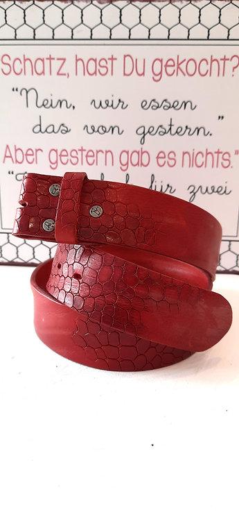 Umjubelt Gürtel Rot Wappen - ohne Schnalle