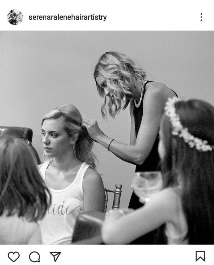 Serena Willis doing Bridal Hairstyling