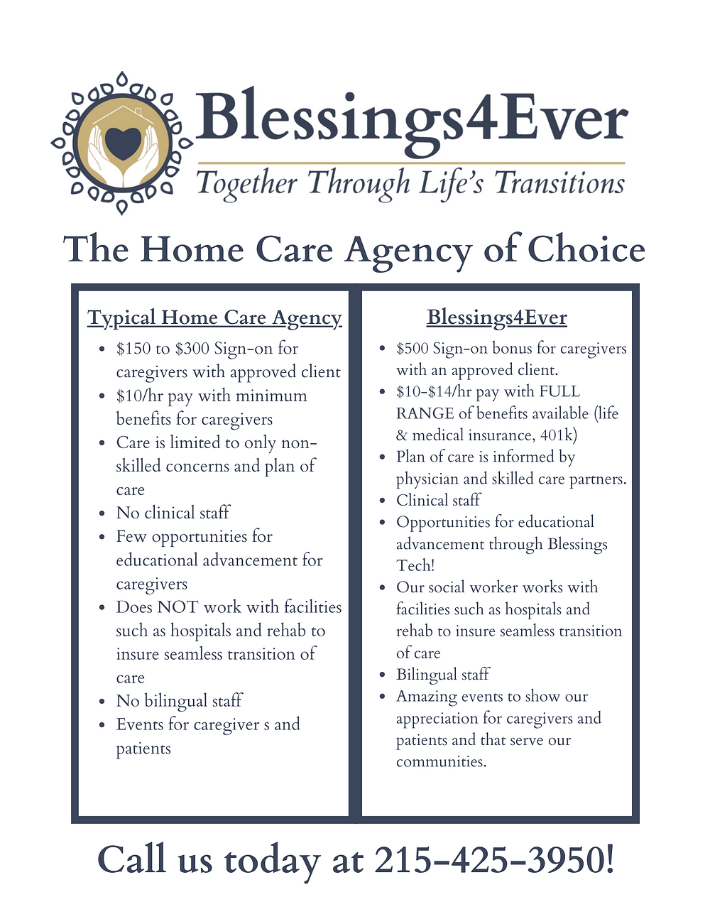 Blessings4Ever is different than the typical Philadelphia home care agency.