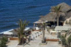 Theros Beach Bar Santorini Greece