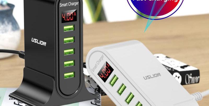 5 Portin USB Latauspiste