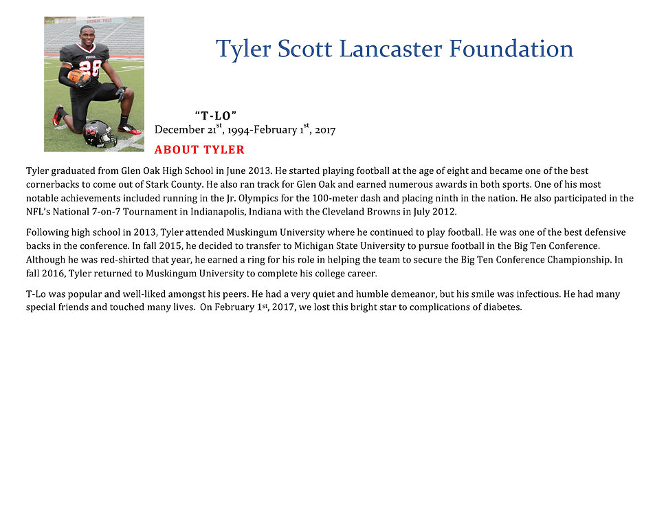 Tyler Scott Lancaster Biography