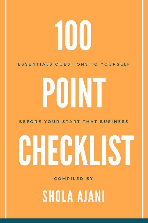 100 Point Checklist