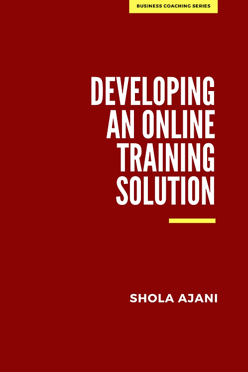 Developing an Online Training Solution