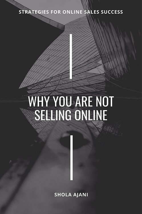 Why You Are Not Selling Online