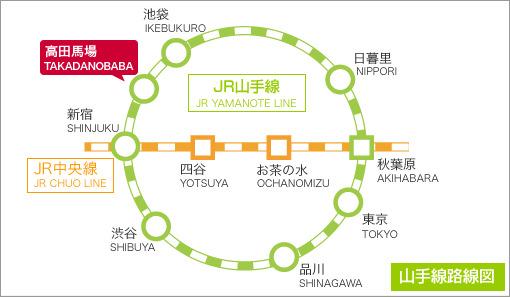 山手線 高田馬場駅アクセス