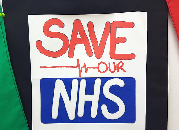 Save our NHS black cotton tote bag