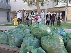 מבצע ניקיון שכונתי בבאר שבע