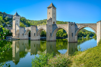 Le pont valentré de Cahors,