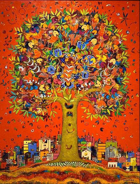 장프랑수아 라리유 빨간 나무.jpg