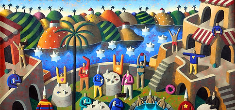 Jordi Pinto, Tropical Party, 73x145cm, M