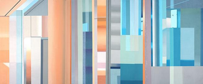 장예지,Urban layer, 90.9x218.1cm, Acrylic o