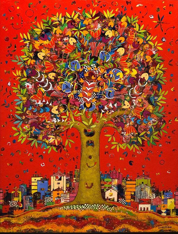 Jean Francois Larrieu, Tree Life, acryli